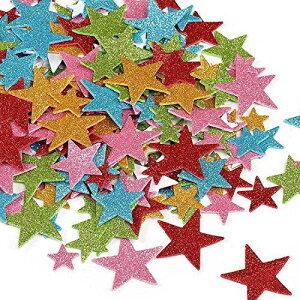 NALER クリスマス 星シール キラキラステッカースポンジテープ ごほうびシール 手帳用ステッカー200枚入れ