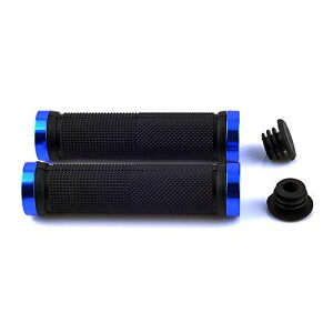 HuktDer自転車 グリップ ハンドルグリップ 滑り止め マウンテンバイク ロードバイク 内径22mm【左右セット】 blue