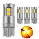 T10 LED 爆光 キャンセラー内蔵 車検対応 9個3030チップ12V-24V カー/バイク ポジション ナンバー灯/ルームランプ(4…