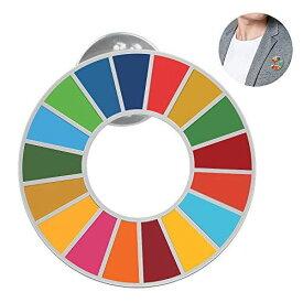 SDGs ピンバッジ バッチ バッジ 国連バッジ バッチ ピンバッジ 最新仕様 国連本部限定販売 琺瑯工芸 (1個) (1個セット)琺瑯工芸