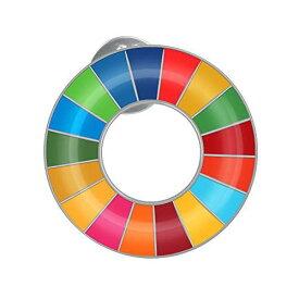 SDGs ピンバッジ バッチ バッジ 国連バッジ バッチ ピンバッジ 最新仕様 国連本部限定販売 丸み仕上げ(2個) (2個セット)丸み仕上げ