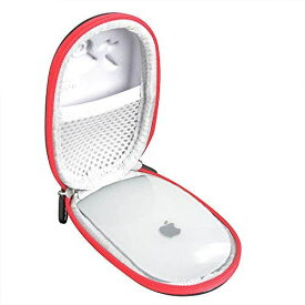 Apple Magic Mouse 2専用収納ケース-Adada (PU, レッド)