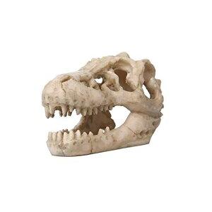Uotyle 水族館 水槽オブジェ 樹脂製 鑑賞・金魚・熱帯魚・爬虫類の装飾 隠す家 洞窟 ヤモリ・スカル 古代魚水槽レイアウト (恐竜骨)