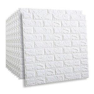 HAMILO 壁紙 レンガシール 3D 立体 ウォールシート 遮音 DIY リフォーム ブロック塀 (30枚セット)