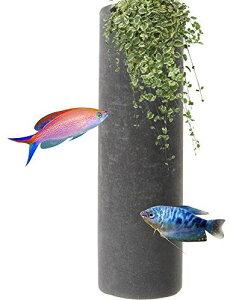 Uotyleアクセサリー エビ 管 水槽 オブジェ 熱帯魚 エビ 金魚 オーナメント DIY材料 隠れ家 造園 産卵 セラミック製
