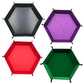 HAMILO ダイストレイ サイコロ カードゲーム 小物入れ 六角形 ボックス 4色セット