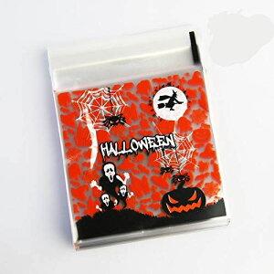 【beauty player】ハロウィン 袋 10*10+3CM キャンディー お菓子 チョコレート クッキー かぼちゃ 幽霊 小物入れ ギフトバッグ シール袋 自己接着 プレゼント(黒幽霊)