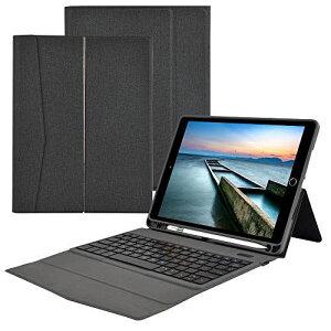 iPad 第8世代 iPad 10.2 キーボード ケース 第7世代 (2020/2019モデル )一体式 Bluetooth キーボード スタンド機能付き 傷つけ防止 耐久性 ペンシルホルダー付き 手帳型 超薄型 iPad 8/iPad 10.2/iPad Air3/Pro