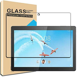 Huy for Lenovo Tab M10 ガラスフイルム レノボ tab m10 フイルム 日本旭硝子製 強化ガラス 液晶 保護フィルム 貼り付け簡単 硬度9H 防指紋 透過率98.5%