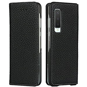 Galaxy Fold SCV44 ケース 手帳型 カバー Zouzt 牛革 本革レザー 本皮 財布型 カード収納 スタンド マグネット 耐衝撃 おしゃれ 6色 ブラック