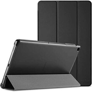 "ProCase Galaxy Tab A7 10.4"" (T500 T505 T507)ケース, 超スリム スタンド フォリオ保護ケース 半透明フロスト バックカバー 対応端末: Galaxy Tab A7 10.4-Inch (SM-T500 T505 T507) 2020 ? ブラック"