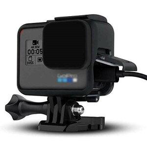 【Taisioner】GoPro HERO 5・GoPro HERO6 GoPro・HERO7 Black用 保護フレーム+シリコンレンズカバー 第二世代 スポーツカメラアクセサリー ブラック・グレー (ブラック(黒))