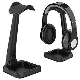 工匠藤井 ヘッドホンスタンド 組み立て簡単 小物収納 スマホホルダー機能 ケーブル掛け機能 『安定性 多機能 Sony Audio-Technica BOSE AKG Beats Panasonic KingTopなど対応 ブラック