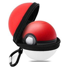 ATiC モンスターボールPlus用 Nintendo Switch ポケットモンスター ボール収納ケース EVA素材 撥水性 ケーブル収納可能 カラビナフック付き 防汚 耐衝撃 全面保護 柔らかな手触り 着脱簡単 軽量 持ち運び便利 ピッタリ Red+White