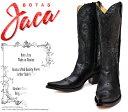 [Botas Jaca] ハカ 2707 Piel Cristal Negro ブラック レディース 本革 ウエスタンブーツ カウガールブーツ