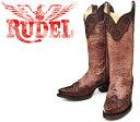 [Botas RUDEL] ルーデル RUDJ001 Crater Cognac クレーター・ブラウン レディース 本革 ウエスタンブーツ カ…