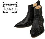 [TRAKAR'S]トラッカーズ14300Black×Blackブラックメンズレディース本革ウエスタンブーツショートブーツ