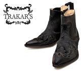 [TRAKAR'S]トラッカーズ14304Black-Liz×Blak-Horseブラックホースファーメンズレディース本革ウエスタンブーツショートブーツ