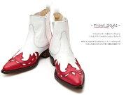 【送料無料】【サイズ交換無料】TRAKAR'Sトラッカーズ14300Red×Whiteレッド×ホワイトメンズ&レディース本革ウエスタンブーツショートブーツ