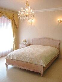 輸入家具 オーダー家具 プリンセス家具 薔薇 ベッド セミダブルサイズ