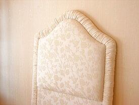 輸入家具 プリンセス家具 ファブリックベッド シングルサイズ オールドローズ柄
