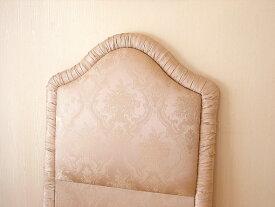 輸入家具 プリンセス家具 ファブリックベッド シングルサイズ ピンクの花かご柄