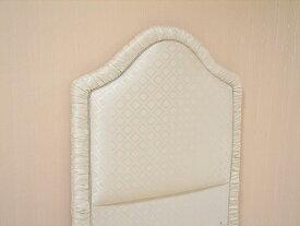 輸入家具 プリンセス家具 ファブリックベッド シングルサイズ ホワイトダイヤ柄