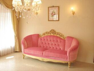 進口家具■訂貨家具■公主家具■維多利亞■公寓型■3P沙發■古董黄金色■嬰兒粉的張力地
