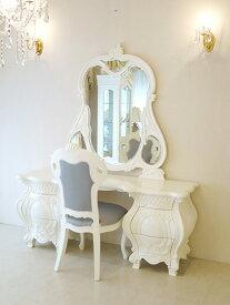 輸入家具 プリンセス家具 オーダー家具 ドレッサー ロココスタイル ホワイト色