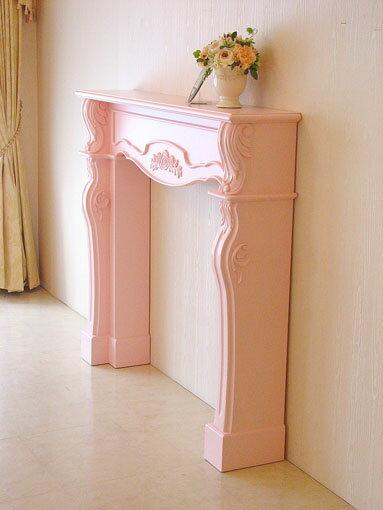 輸入家具■オーダー家具■プリンセス家具■マントルピース■シェル■薔薇の彫刻■バービーピンク色