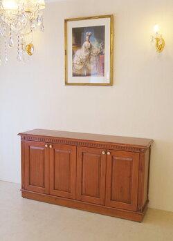 輸入家具■オーダー家具■マダム・ココ■サイドボード■W150×H80cm■4枚扉■マイエル色