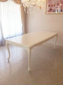 輸入家具■オーダー家具■ビバリーヒルズ■ダイニングテーブル■W2000×D1000■オードリーリボンの彫刻