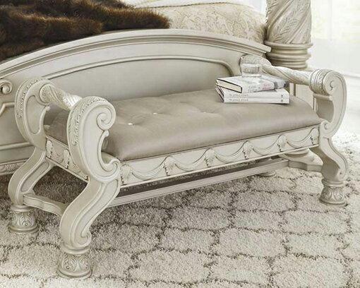 輸入家具■ASHLEY■アシュレイ■Cassimore large UPH Bedroom Bench