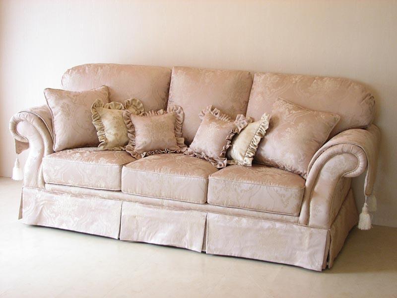 Elegant Imported Furniture □ Princess Furniture □ Rococo □ Princess Sofa □ Figaro □  3 P □ Pink Flower Basket Pattern