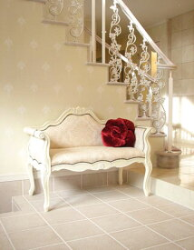 輸入家具 オーダー家具 プリンセス家具 カウチソファ ホワイト シェルの彫刻