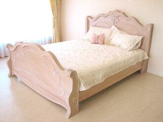進口家具■啦殻牌■雙大小床(粉紅色淺駝色)