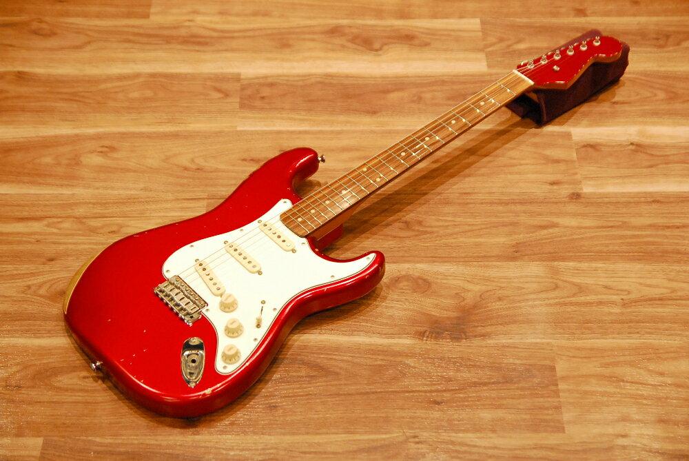【送料無料】【新品特価】EDWARDS エドワーズ E-SE-120R/LT CAR(Candy Apple Red) エレキギター/ストラトキャスター/レリック加工/キャンディーアップルレッド【返品・交換不可】
