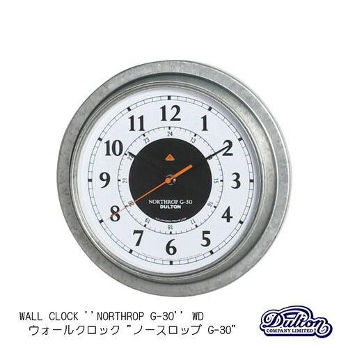 """【送料無料】WALL CLOCK ''NORTHROP G-30'' WD (ウォールクロック """"ノースロップ G-30"""") 壁掛け時計 壁時計 掛け時計 温度計 湿度計 アナログ時計 スチール シルバー アナログ計器【ダルトン DULTON】【西海岸 インダストリアル】K725926"""