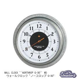 【送料無料】WALL CLOCK 'NORTHROP G-30' WD(ウォールクロック ノースロップ G-30 WD)【ダルトン DULTON】K725926 壁掛け時計 壁時計 温度計 湿度計 アナログ時計 スチール シルバー アナログ計器 インダストリアル