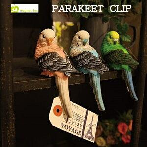 PARAKEET CLIP (パラキート クリップ)【magnet マグネット】鳥 トリ バード クリップ ステーショナリー 置物 アート アトリエ プレゼント ギフト ホルダー 写真立て インテリア 両面テープ (z)