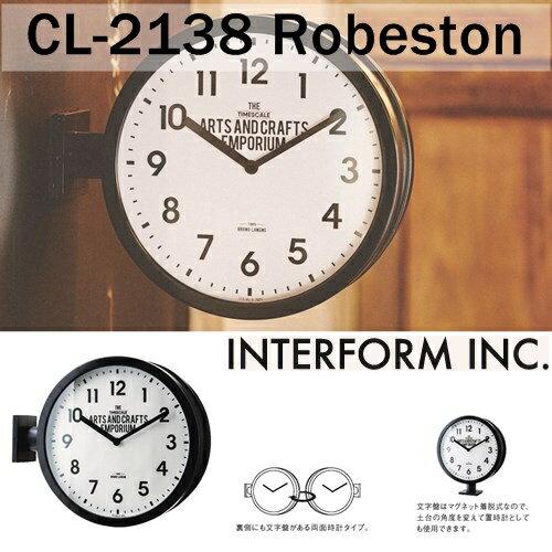 Robeston (ロベストン) モノトーン アンティーク レトロ ステップムーブメント掛け時計cl2138 【インターフォルムINTERFORM】