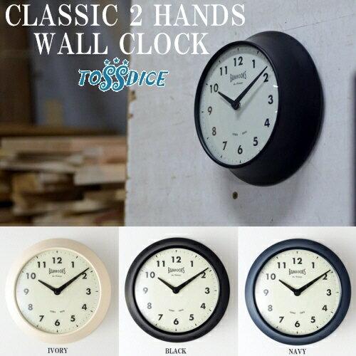 CLASSIC 2 HANDS WALL CLOCK クラシック2ハンズウォールクロック レトロ お洒落 YUTENJI TOKYO アンティーク調 壁掛け時計 アナログ tdnm3057【TOSSDICE トスダイス】