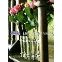 リンクチューブベース[Gold・Silver] Link Tube Vase 試験管一輪挿し 花瓶 フラワーベース 15x2.5cmx9本【ダルトン D…