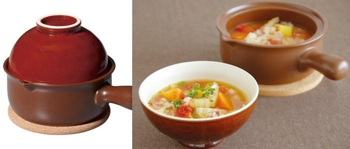 ほっくり スープごはん鍋 茶 【お鍋/一人鍋/自炊/料理/食器】(SALE) 【キントー KINTO】