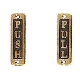 【メール便・送料無料】BRASS SIGN ブラスサイン 【ダルトン DULTON】GS559-326PS2 PUSH PULL 縦タイプ 真鍮 ドアプレート