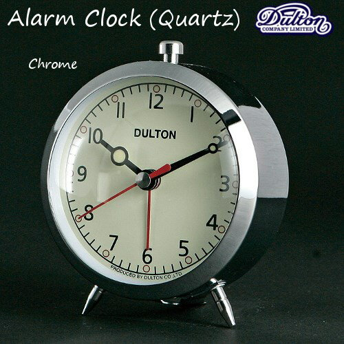アラームクロック(クォーツ)#2[Chrome色]AlarmClock(Quartz)目覚まし時計【ダルトン DULTON】 【西海岸 インダストリアル】