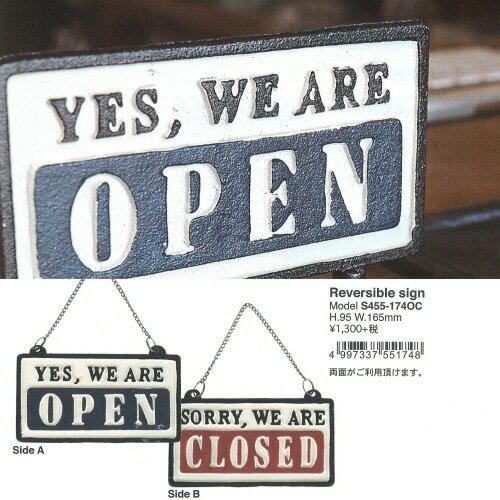 Reversible sign open closed オープン クローズ店舗装飾 アンティーク レトロ アメリカン 【ダルトン DULTON】 【西海岸 インダストリアル】