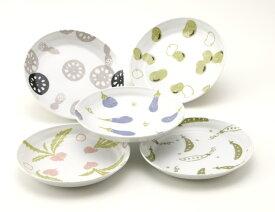 キッチン畑 和皿揃 Shinzi Katoh design【小倉陶器】カトウシンジデザイン 和皿のセット。ギフトボックスに入っているのでギフトに最適