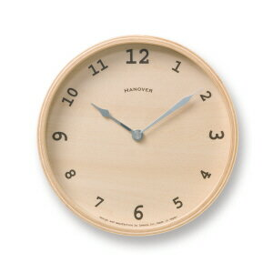 BAUM S [ バウム S] モダン ナチュラル シンプル お洒落 熟練職人の手によって作られた、懐かしいデザインの掛け時計【タカタレムノス Lemnos】