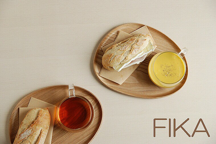 FIKA フィーカ カフェランチ ウッドタイプ 4色 プレートとカップのセット 【キントー KINTO】